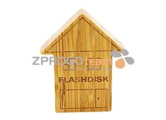 NEW: Promotional wood USB flash drive in design house, buildings or factories.ve with rotating parts.