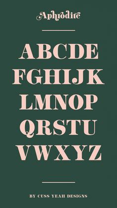 """Introducing my very first font """"Aphrodite""""! This classy, yet modern, font was inspired by a basic serif typeface found in a vintage lettering book from the Graphic Design Fonts, Design Typography, Typography Letters, Branding Design, Caligraphy Alphabet, Vintage Fonts, Vintage Lettering, Graphics Vintage, Modern Serif Fonts"""