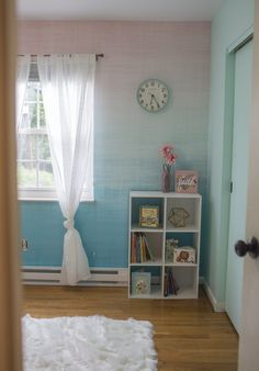 Bedroom transformation with Limitless Walls Removable Wallpaper - by Messymom Teal Bedding, Girls Time, Light Teal, New Room, Wall Wallpaper, Wall Murals, The Good Place, Walls, Projects