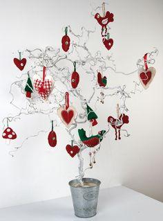 Scandi Christmas tree and handmade decorations