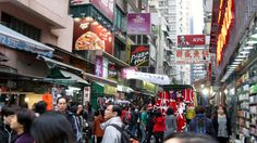 Hong Kong street markets after the Mongkok fire