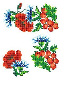 Cross Stitch Borders, Cross Stitch Flowers, Cross Stitch Charts, Cross Stitching, Basic Embroidery Stitches, Beaded Embroidery, Cross Stitch Embroidery, Pattern Fashion, Weaving