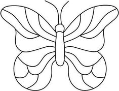 free butterfly pattern for glass - - Yahoo Image Search Results Stained Glass Quilt, Faux Stained Glass, Stained Glass Projects, Stained Glass Patterns, Mosaic Patterns, Butterfly Quilt, Butterfly Drawing, Glass Butterfly, Butterfly Pattern