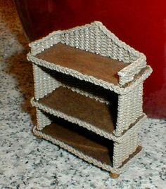 Плетеная этажерка