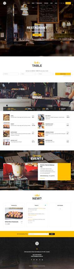 Full CSS Web Design Inspiration - Resca Restaurant