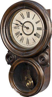 1880's Ansonia Oak Wall Clock