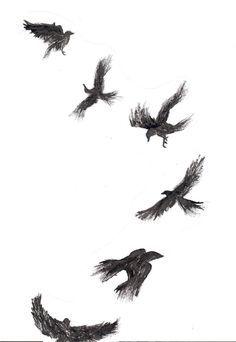 small tattoo crow - Google Search