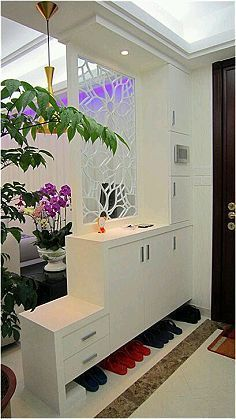 Room Divider Ideas and Partition Design as Element of Decoration Art Home Design Ideas Room Design, Curtains Living Room, Apartment Interior, Living Room Partition, Living Room Decor, Home Decor, House Interior, Apartment Decor, Living Room Divider