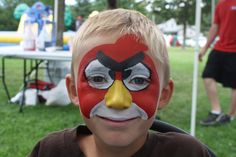 More user friendly Angry Birds Face Paint Red Angry Bird, Angry Birds, Face Painting For Boys, Body Painting, Diy Face Paint, Cheek Art, Circus Carnival Party, Face Painting Tutorials, Boy Face