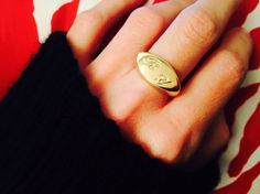 Personalized Signet Ring by NewHabitJewelry on Etsy :-) #EngravedRing, #InitialRing, #Signetring, #Goldsignetring, #Personalizedring, #Personalizedjewelry