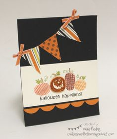 Stampin up Halloween Happiness great banner