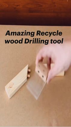 Wood Shop Projects, Small Wood Projects, Cool Woodworking Projects, Woodworking Techniques, Woodworking Jigs, Carpentry Tools, Homemade Tools, Wood Tools, Recycled Wood