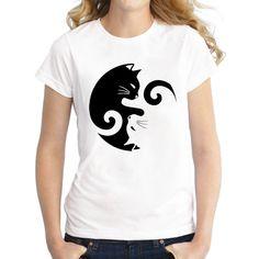 Hot Sales 2016 Newest fashion Feline Familiar design women t-shirt short sleeve lady cat cartoon printed summer tops casual Tee