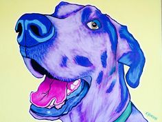 A personal favorite from my Etsy shop https://www.etsy.com/listing/269876839/great-dane-pop-art-custom-pet-portrait
