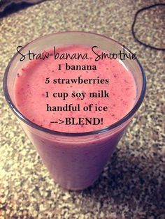 Good Free of Charge Strawberry and banana smoothie - Strawberry and banana smoothie - . Style Blood and Strawberry Banana Smoothie Recipes Several common smoothie recipes have a very important Healthy Fruit Smoothies, Fruit Smoothie Recipes, Strawberry Smoothie, Smoothie Drinks, Healthy Fruits, Healthy Drinks, Healthy Recipes, Healthy Smoothies For Breakfast Recipes, Energy Smoothies