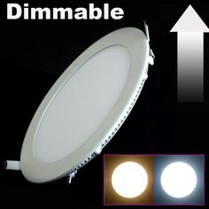 Dimmable Ultra thin 3W/4W/ 6W / 9W / 12W / 15W/LED Ceiling Recessed Grid Downlight / Slim Round Panel Light #Affiliate