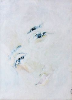 EVA CLAESSENS/ found on www.kunzt.gallery / La Deesse Verte, 2013 / Painting / 50 x 40 cm