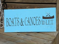 BOATS & CANOES to let  LaKe Sign STENCIL with por SuperiorStencils