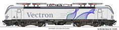 RAILCOLOR.NET - modern locomotive power #railcolor www.railcolor.net #locomotives #trains #railways #railroads #siemens #vectron