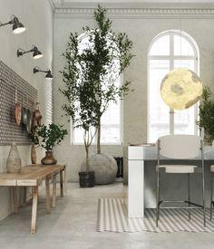 Cafe Interior, Kitchen Interior, Interior And Exterior, Chandelier In Living Room, Living Room Decor, Home Decor Kitchen, Kitchen Design, Deco Floral, Piece A Vivre