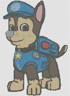 Chase Paw Patrol x-stitch