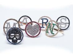 Identity Collection - #digregorio_milano #lettering #symbols #diamonds #gems #gold #finejewellery #fullcolours #luxury