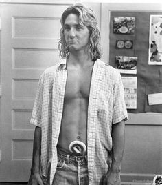 Sean Penn in Fast Times at Ridgemont High. I saw it nearly every weekend at the midnight movie in my college days. So many unknown actors who later hit the big time! Maureen O'sullivan, Rosemary Clooney, Michael Bolton, Christian Slater, Phil Collins, Fred Astaire, John Travolta, Marlon Brando, Sylvester Stallone