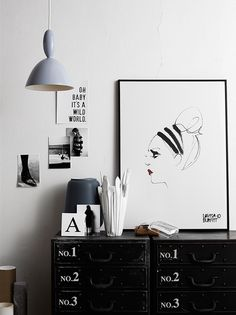 Add A Style In Your Home With Fashion Illustrations