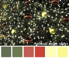 Holiday color palette/inspiration.