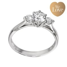 Platinum Diamond Three Stone Ring DD2344 from Beaverbrooks the Jewellers