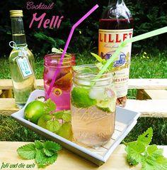 """Cocktail """"Melli"""" mit Lillet und Zitronenmelisse Sirup / http://juli-und-die-welt.blogspot.de/"""