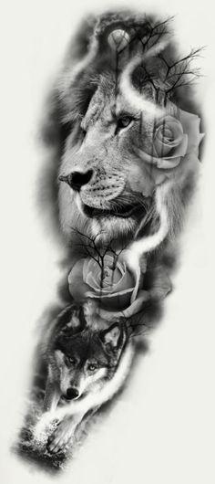 Lion Head Tattoos, Forarm Tattoos, Forearm Tattoo Men, Wolf Tattoos, Animal Tattoos, Lion Tattoo Sleeves, Best Sleeve Tattoos, Alien Tattoo, Lion Tattoo Design