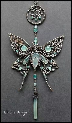 Beautiful wire wrapped butterfly.