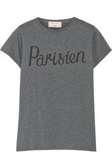 Maison Kitsuné Printed cotton-jersey T-shirt   NET-A-PORTER