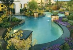 Love this pool and landscaping