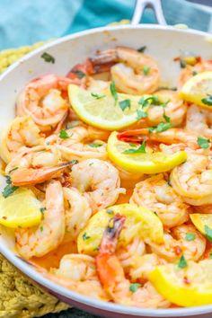 The best one pot garlic butter shrimp ever recipe healthy recipes креветка. Buttered Shrimp Recipe, Shrimp Recipes, Fish Recipes, Shrimp Dishes, Shrimp Pasta, Churros, Paella, Carpaccio Recipe, Seafood