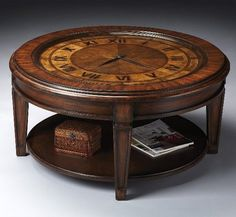 Furniture, Excellent Clock Coffee Table Furniture With Small Box Along With Magazines On It: The innovation of Amazing clock coffee table