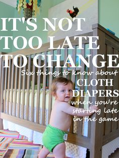6 Things to Know about Cloth Diapers (When You're Starting Late in the Game)