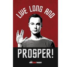 The Big Bang Theory Poster Sheldon - Live Long & Prosper! Hier bei www.closeup.de