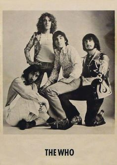 The Who are an English rock band that formed in Their best known line-up consisted of lead singer Roger Daltrey, guitarist Pete Townshend, bassist John Entwistle and drummer Keith Moon. Roger Daltrey, Keith Moon, Music Icon, My Music, Great Bands, Cool Bands, Rock N Roll, The Wombats, College Books