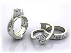 Custom Interlocking Wedding Ring and Engagement Ring !! OMG!!! How amazing!