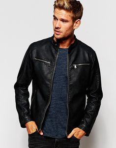 Image 1 ofEsprit Faux Leather Jacket