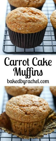 A small batch of moist applesauce carrot cake muffins. A healthy and flavorful breakfast or snack. Carrot Recipes, Muffin Recipes, Baby Food Recipes, Sweet Recipes, Baking Recipes, Cake Recipes, Dessert Recipes, Donut Recipes, Muffin Cake Recipe