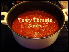 Tasty Tomato Sauce (with fresh tomatoes, mushrooms, onion & garlic)