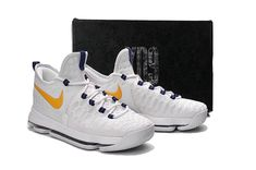 the best attitude afc5b 0c338 Kevin Durant KD 9 ID Elite Flyknit Warriors Home Gold Medal 2018 Legit  Cheap Popular Sneakers