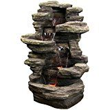 "Amazon.com : Zenvida Woodland Waterfall Outdoor Fountain 32"" : Patio, Lawn & Garden"