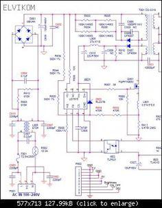 Diagrama de fuente de TV Toshiba y circuito integrado STR