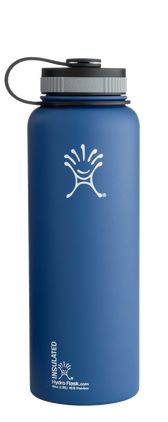 The Hydro Flask 40 Oz Wide Mouth  Water Bottle is made for serious hydration and sustenance portability