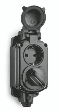 Bakeliet garage stopcontact IP20 art.nr. 100295