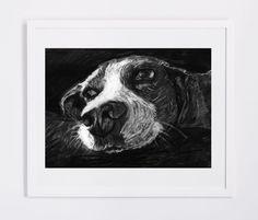 Beagle drawing Charcoal Beagle art printBeagle by OjsDogPaintings